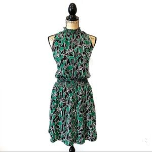 A New Day Dress Size XL black and green print